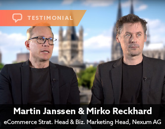 Martin Janssen, Head of eCommerce Strategy for Nexum AG, and Mirko Reckhard, Head of Business Division Marketing Platforms for Nexum AG