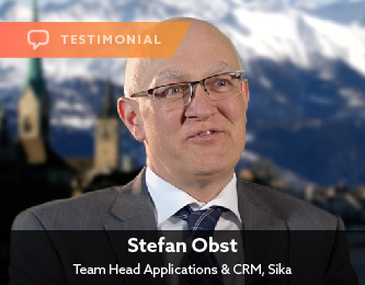 Stefan Obst, Team Head Applications & CRM, Sika