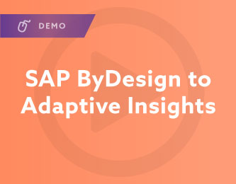 SAP ByDesign to Adaptive Insights Demo
