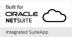 'Built for Oracle NetSuite' Integrated SuiteApp badge for Jitterbit Harmony Integration Platform as a Service (iPaaS)