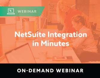 NetSuite Integration in Minutes