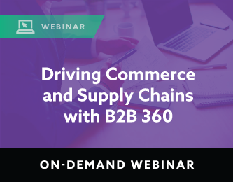 Driving Commerce and Supply Chains with B2B 360