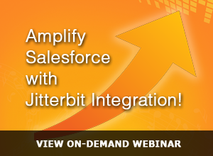 Webinar – Amplify Salesforce with Jitterbit Integration – 12/12/13