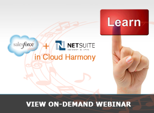 Webinar – Salesforce & NetSuite in Cloud Harmony – 11/6/13