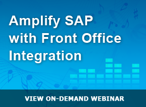 Webinar – Amplify SAP with Front Office Integration 7-17-14
