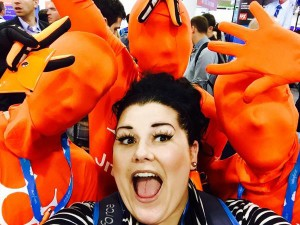 @Trish_Dishes: @jitterbit I think I got accosted by a group of giant #Cheetos... Its cool though because they gave me earbuds #DF14