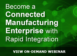WBNR – Become a Connected Manufacturing Enterprise with Rapid Integration Webinar 1-20-15