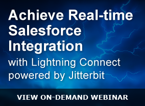 Webinar – Achieve Real-time Salesforce Integration with Lightning Connect powered by Jitterbit – 033115