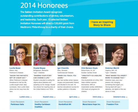 Bakken Invitation 2014 Honorees