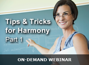 Webinar -Tips and Tricks for Harmony Part 1 – 121517