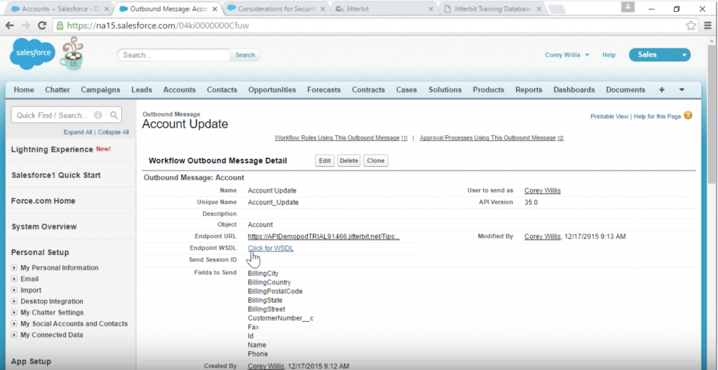 WSDL from Salesforce