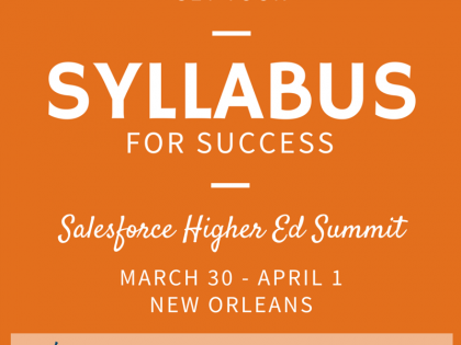 Get Your Syllabus for Success at the Higher Ed Summit