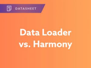 Data Loader vs. Harmony API Integration Datasheet