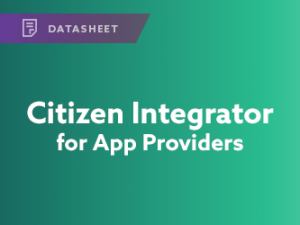 Citizen Integrator for App Providers Datasheet
