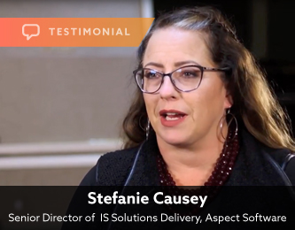 Testimonial — Stefanie Causey, Aspect Software