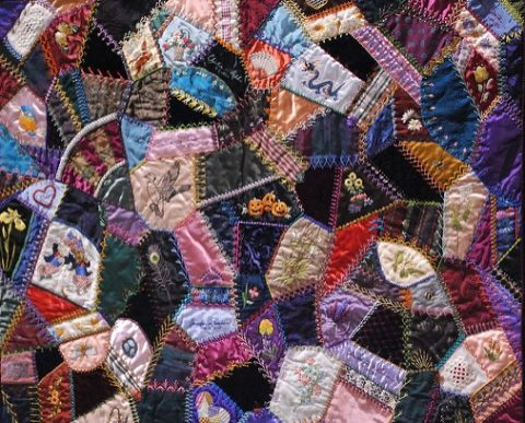 Crazy Quilt Mary Frances Main CC copyright