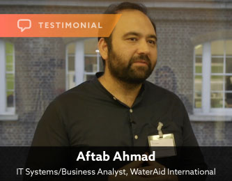 testimonial-Aftab-Ahmad-IT-Systems-Business-Analyst-WaterAid-International